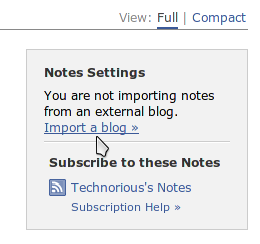 Import a blog to notes