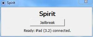 Jail break iPad using Spirit